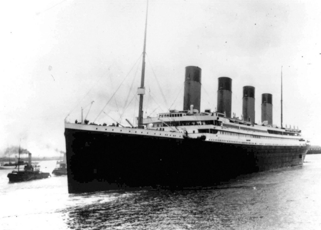 The Titanic leaves Southampton, England, on her maiden voyage, on April 10, 1912. (AP Photo)