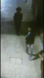 The terrorist, in an image taken from security video. (Medabrim Tikshoret)