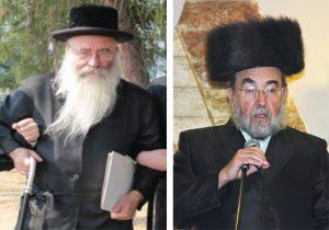 """Reb Chaim Parnes, z""""l, (L) and Reb Yitzchok Rosenberg, z""""l. (JDN)"""