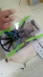 One of the drones that were caught at the Erez Crossing. (Israeli Customs)
