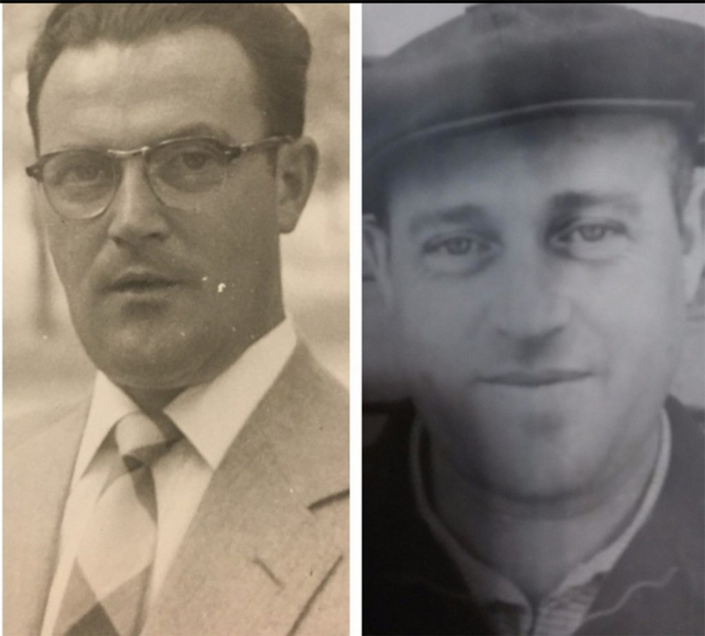 Abram (left) and his brother Chaim, both at age 32. The young men were separated soon after the family was forced into the ghetto following the Nazi invasion of Poland and died without seeing each other again. (Courtesy of Jess Katz/Handout)
