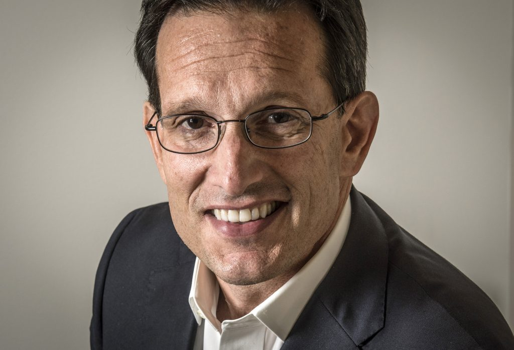 Eric Cantor at his new office, at investment bank Morelis in Washington, D.C. (Bill O'Leary/The Washington Post)