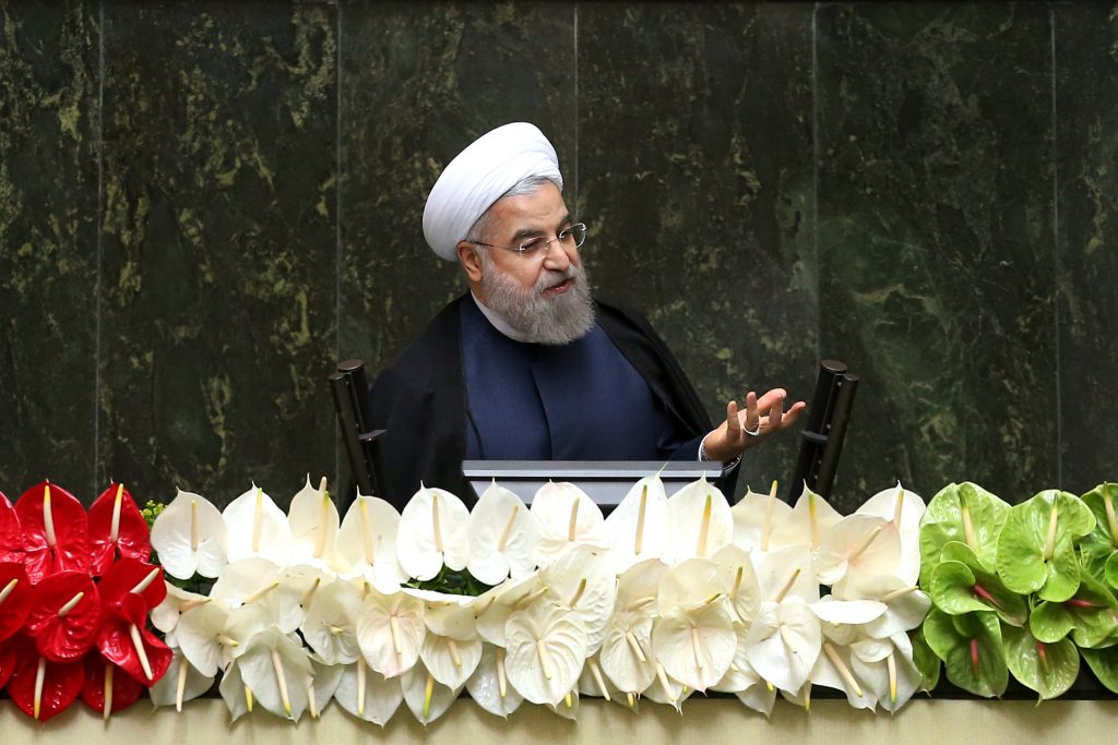Iranian President Hassan Rouhani, shown here speaking during the inauguration of the new parliament, in Tehran last month. (AP Photo/Ebrahim Noroozi)
