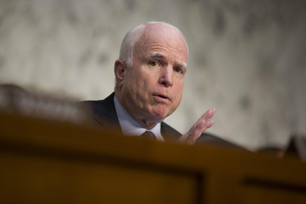 Sen. John McCain, R-Ariz. (AP Photo/Evan Vucci, File)