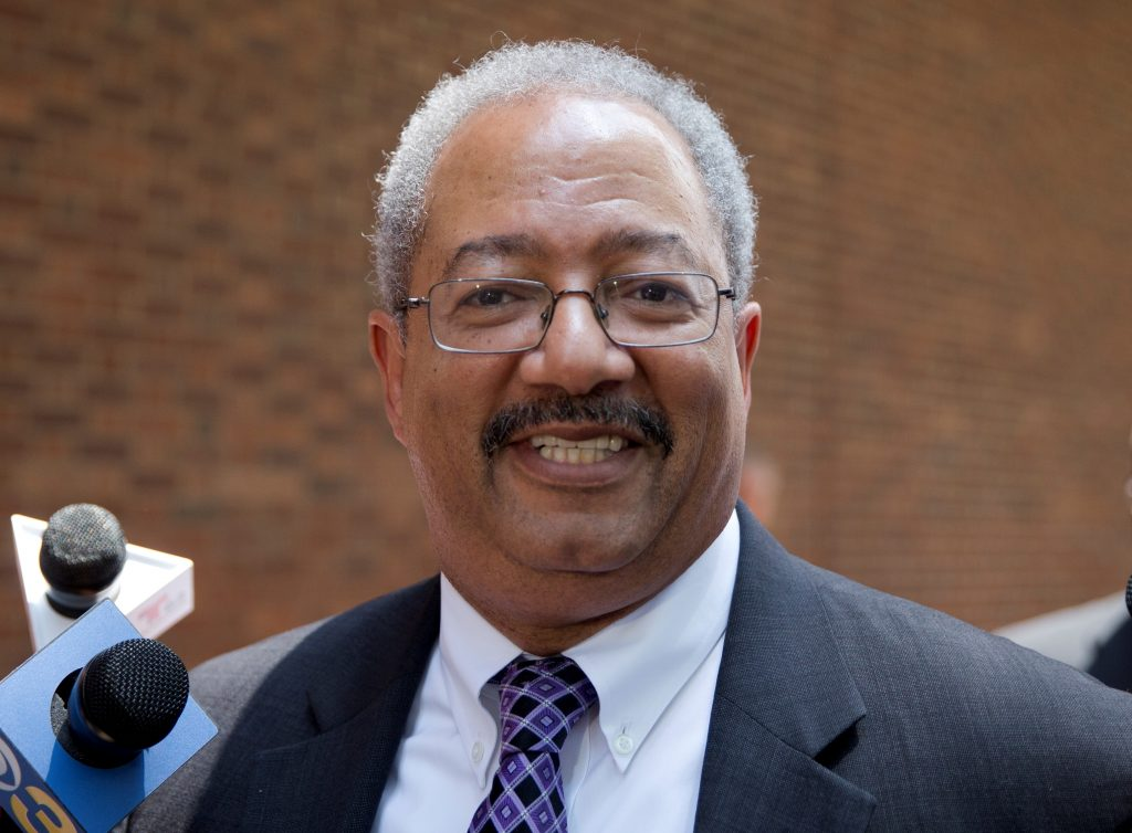 Rep. Chaka Fattah, D-Pa., leaving the federal courthouse in Philadelphia on Tuesday. (AP Photo/Matt Rourke)