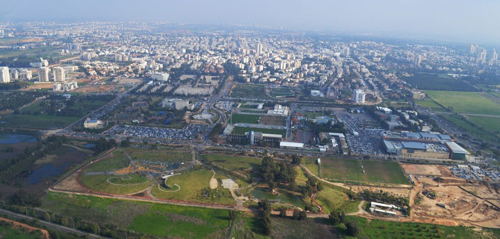 An aerial view of Herzliya (Flash 90)
