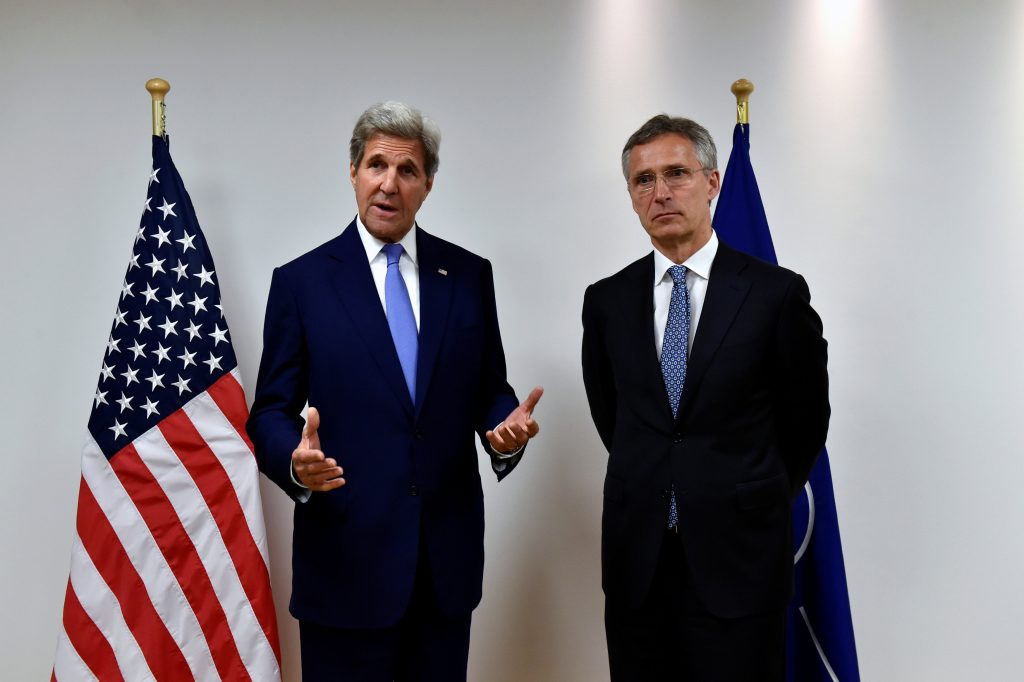 U.S. Secretary of State John Kerry meets with NATO Secretary-General Jens Stoltenberg at the NATO headquarters in Brussels, June 27, 2016. REUTERS/Eric Vidal