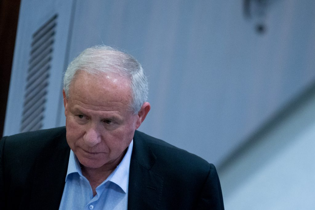 MK Avi Dichter, chairman of the Knesset Foreign Affairs and Defense Committee. (Yonatan Sindel/Flash90)