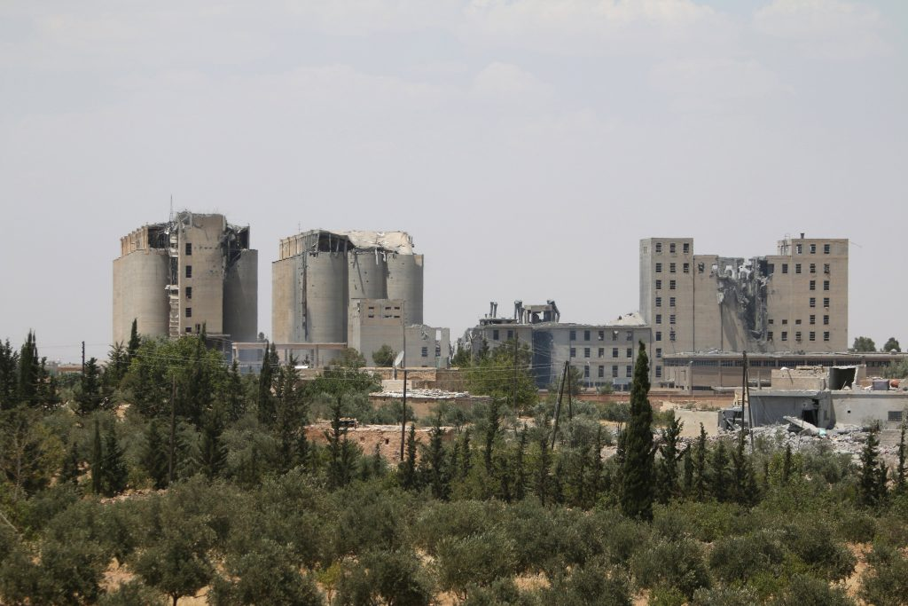 A general view shows damage on the mills of Manbij, in Aleppo Governorate, Syria, June 25, 2016. REUTERS/Rodi Said