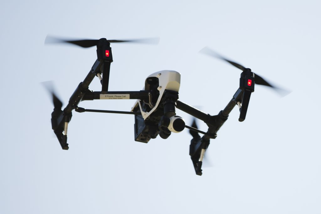 A drone captures images of an apartment building in Philadelphia. (AP Photo/Matt Rourke, File)
