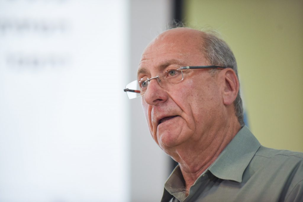 Retired IDF major general Amnon Reshef, founder of the Commanders for Israel's Security. (Ben Kelmer/Flash90)