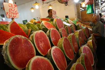 Watermelons. Photo by Nati Shohat/FLASH90