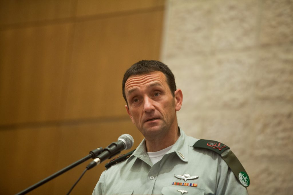 "Herzi Halevi, Chief of the Israeli Military Intelligence Directorate speaks at the annual conference of the Budget Division in at Ministry of Finance in Jerusalem on November 2, 2015. Photo by Flash90 *** Local Caption *** äøöé äìåé øàù àâó äîåãéòéï àî""ï éåí òéåï ùðúé ùì àâó äú÷öéáéí îùøã äàåöø"