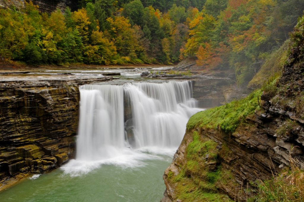 The Lower Falls on the Genesee River in Letchworth State Park near Rochester. (Flickr)