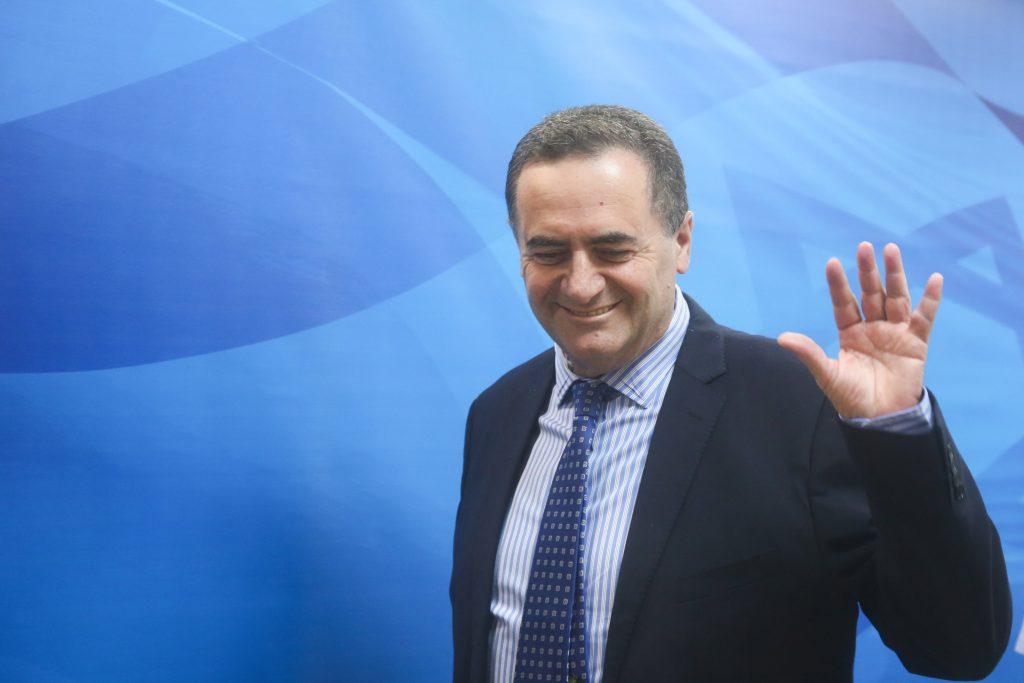 Israeli Minister of Transportation Yisrael Katz. (Marc Israel Sellem/POOL)