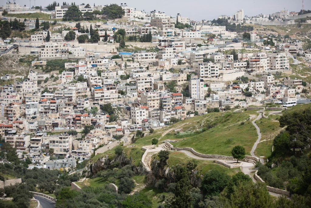 View of the eastern Yerushalayim neighborhood of Silwan (Corinna Kern/Flash90)