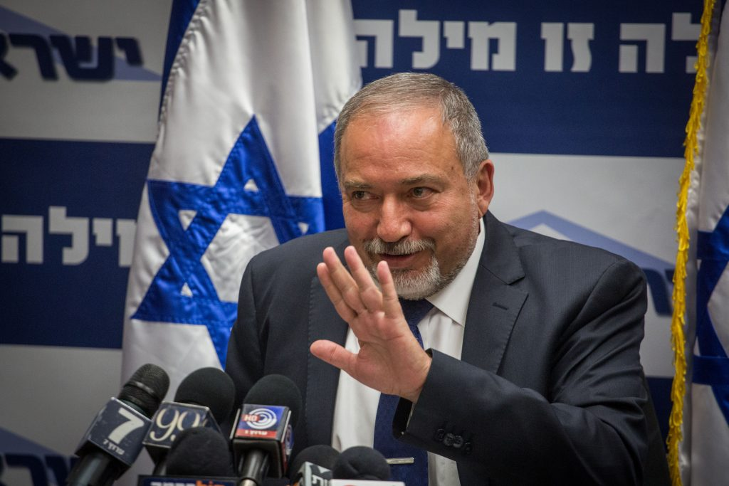 Defense Minister Avigdor Liberman (Hadas Parush/Flash90)