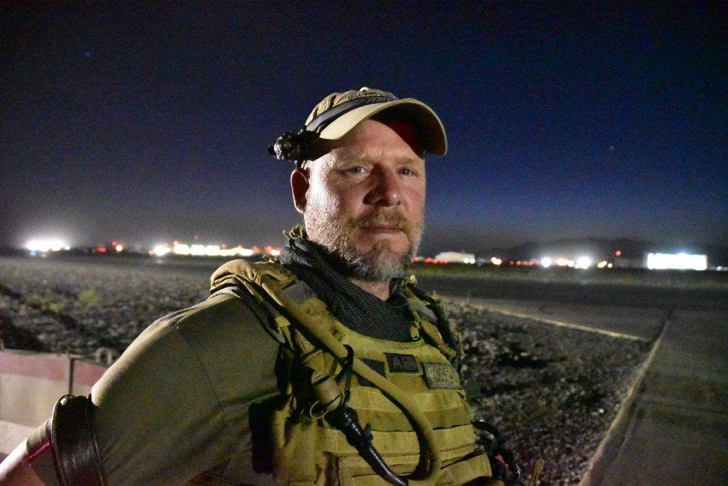 This May 29, 2016, photo shows David Gilkey, a veteran news photographer and video editor for National Public Radio photographer, at Kandahar Airfield in Afghanistan. Gilkey and an Afghan translator, Zabihullah Tamanna, were killed while on assignment in southern Afghanistan on Sunday, June 5, 2016, a network spokeswoman said. (Michael M. Phillips/The Wall Street Journal via AP) MANDATORY CREDIT