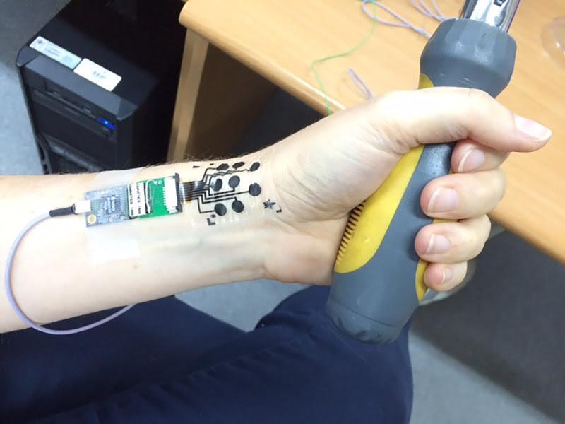 The electronic tattoo developed at Tel Aviv University. (Tel Aviv University)