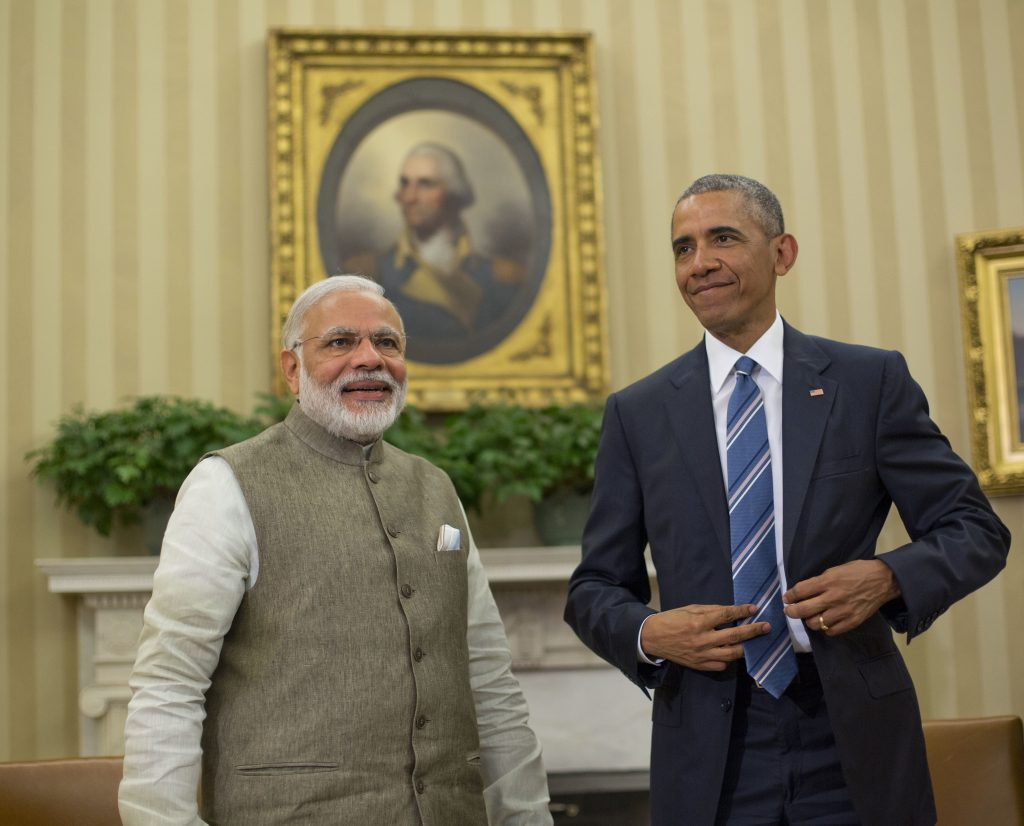 President Barack Obama meets with Indian Prime Minister India Narendra Modi in the Oval Office on Tuesday. (AP Photo/Pablo Martinez Monsivais)