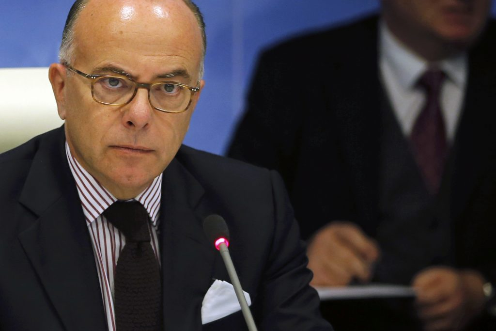 French Interior minister Bernard Cazeneuve attends a meeting of the ministerial committee on security in Paris, France, June 20, 2016 as the country is under high security during the UEFA 2016 European Championship. REUTERS/Stephane Mahe