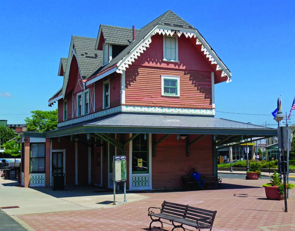 The historic Red Bank train station, which was visited in the past by the King of England and several U.S. presidents. (Wikipedia Commons)