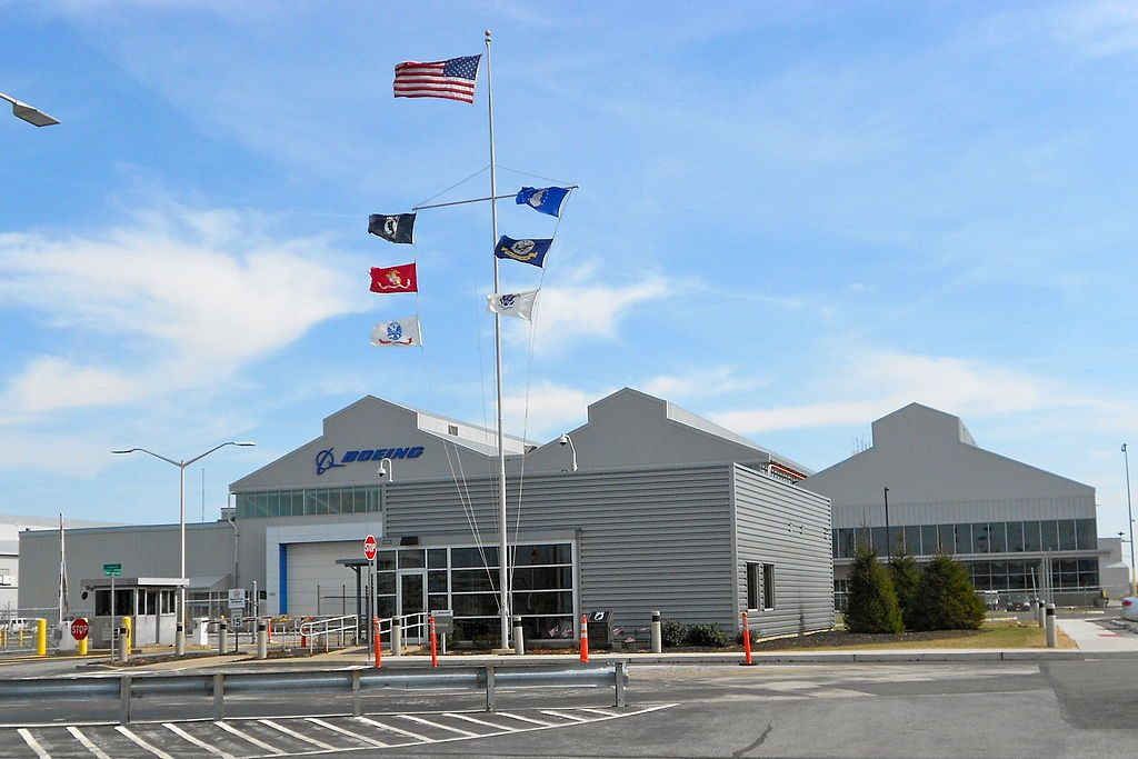 The Boeing plant in Ridley Park, Pennsylvania.