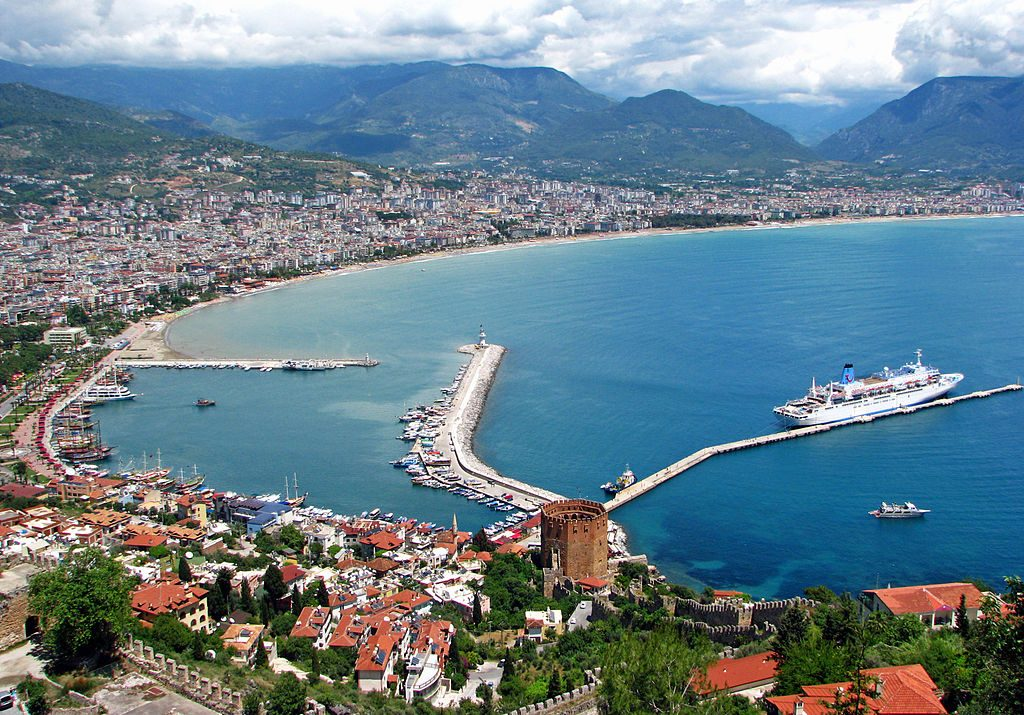 Alanya on the Turquoise Coast of Turkey, a popular tourist destination.