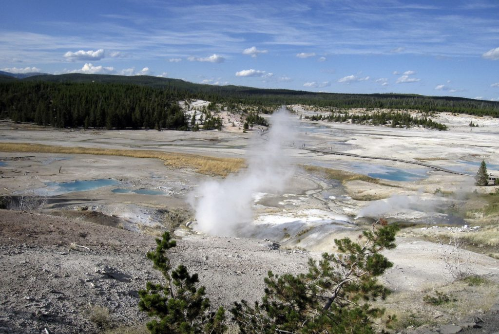 The Norris Geyser Basin in Yellowstone National Park, Wyo. (AP Photo/Beth Harpaz, File)
