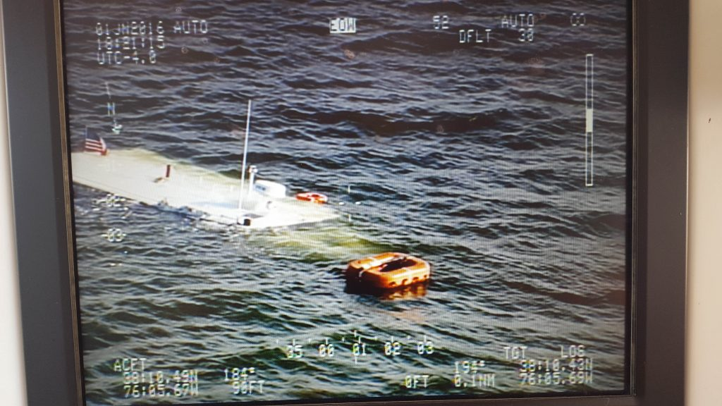 This boat that sunk in the Chesapeake Bay (Maryland Natural Resources Police)