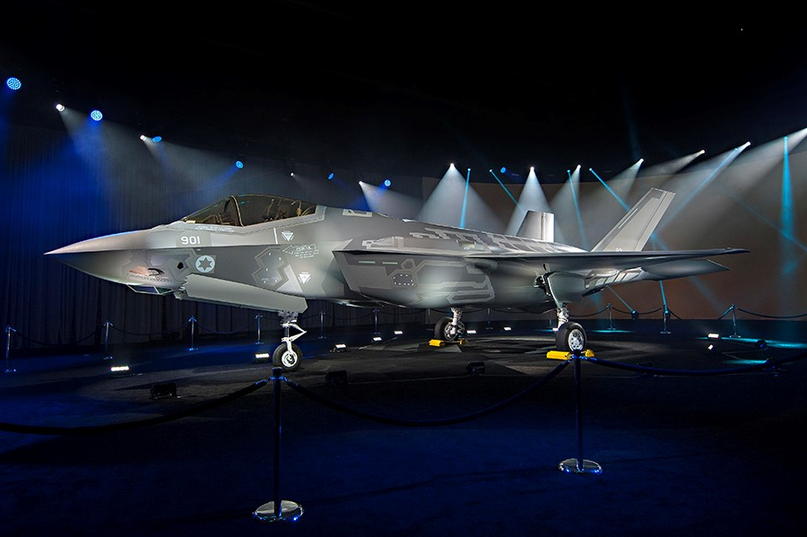 The first F-35 bound for Israel at the unveiling ceremony in Dallas on Wednesday. (Lockheed Martin)