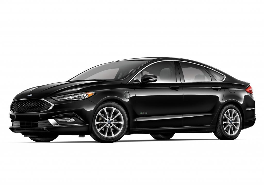 Ford's Fusion comes in a variety of platforms, from a turbocharged V6 sport version to the plug-in hybrid Platinum Energi, pictured here. (Ford Motor Co.)