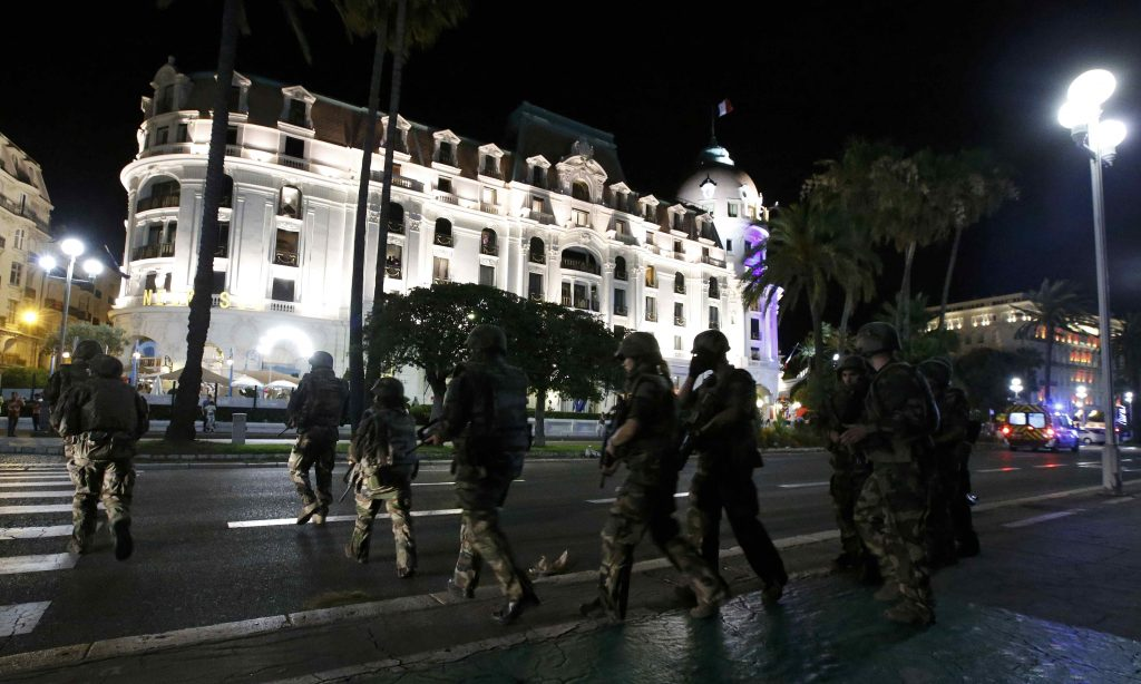 French soldiers in the streets of Nice. (Reuters/Eric Gaillard)