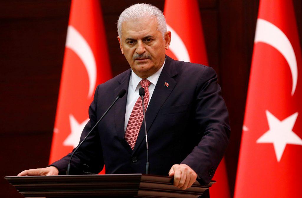 Turkey's Prime Minister Binali Yildirim addresses the media in Ankara, Turkey, in this June 27, 2016 file photo. (Umit Bektas/ReutersFile Photo)