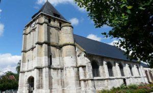 An undated photo shows the parish of Saint-Etienne. (Diocese de Rouen via Reuters)