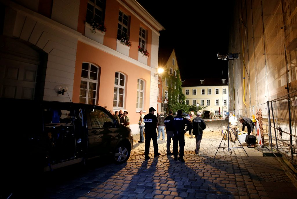 Police secure an area after an explosion in Ansbach, near Nuremberg, Germany July 25. (Michaela Rehle/Reuters/File)