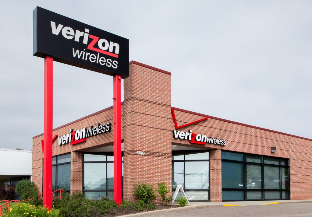 A Verizon Wireless retail store in Madison, Wisconsin.