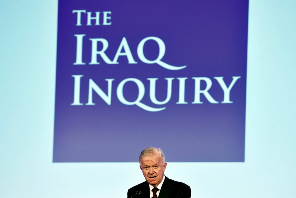 Sir John Chilcot presents The Iraq Inquiry Report at the Queen Elizabeth II Centre in Westminster, London, Britain July 6, 2016. REUTERS/Jeff J Mitchell/Pool TPX IMAGES OF THE DAY