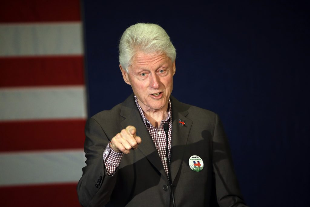 Former President Bill Clint speaks in Portland, Ore. while campaigning for his wife, Democratic presidential candidate Hillary Clinton. (AP Photo/Don Ryan)