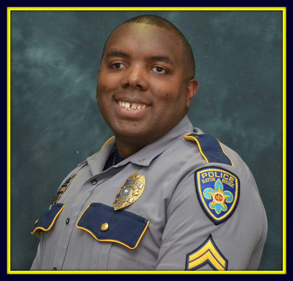 This photo made available by the Baton Rouge Police Dept. shows officer Montrell Jackson. Jackson, 32, has been identified as one of the police officers killed in a shooting Sunday, in Baton Rouge, La. (Baton Rouge Police Dept. via AP)