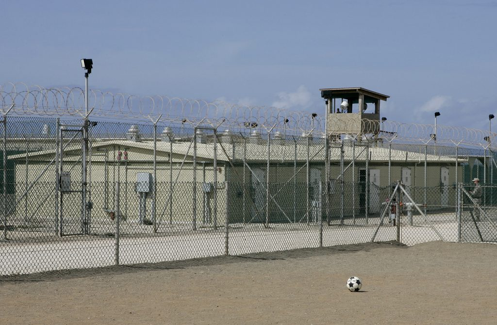 Camp Delta Four in the Guantanamo Bay Naval Station, Cuba, in a 2005 photo. (AP Photo/Andres Leighton)