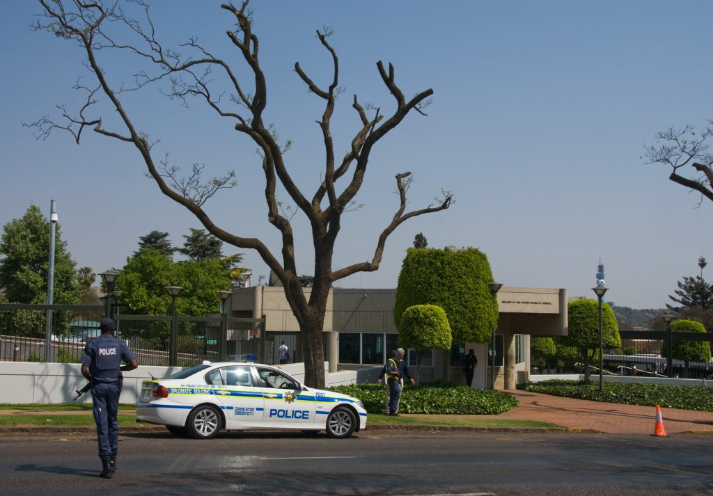 The U.S. Embassy compound in Pretoria, South Africa, in a 2009 photo. (AP Photo/Waldo Swiegers)