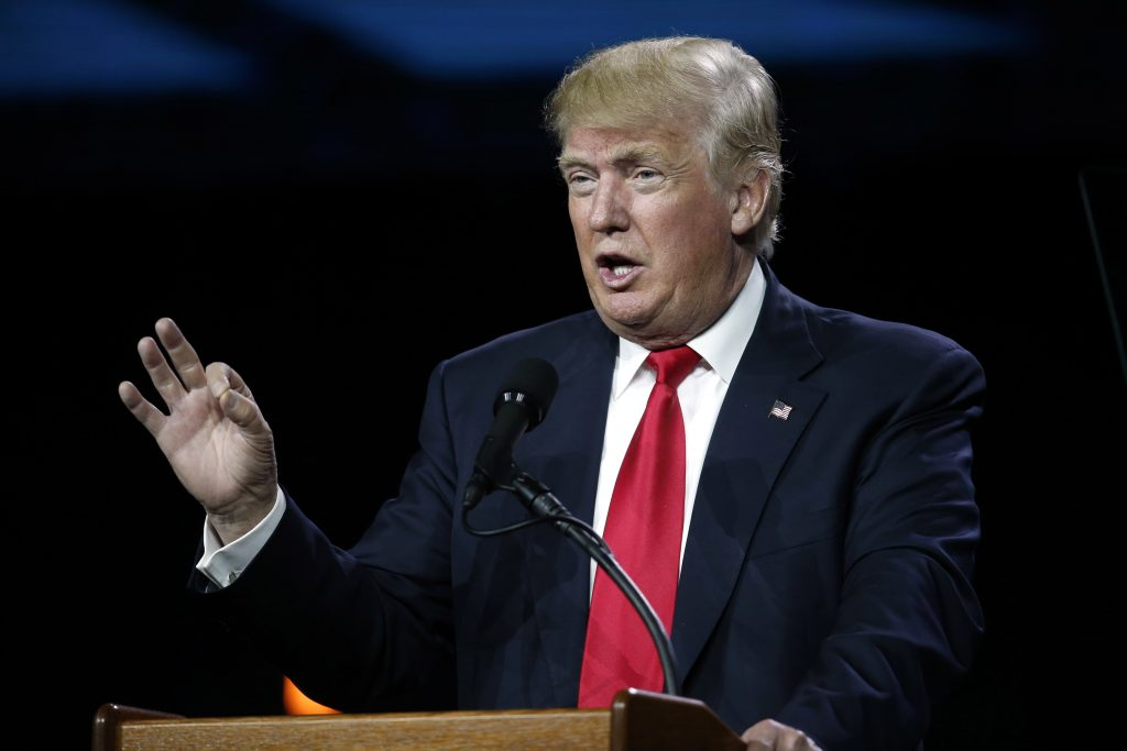 Donald Trump speaks during the opening session of the Western Conservative Summit in Denver on July 1. (AP Photo/David Zalubowski, File)