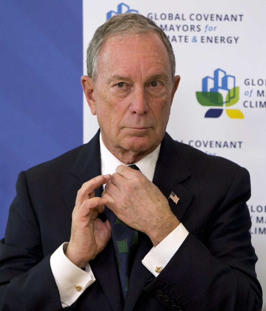 Mike Bloomberg, the U.N. Special Envoy for Cities and Climate Change, prepares to speak at a press conference on climate change at EU headquarters in Brussels last month. (AP Photo/Virginia Mayo)