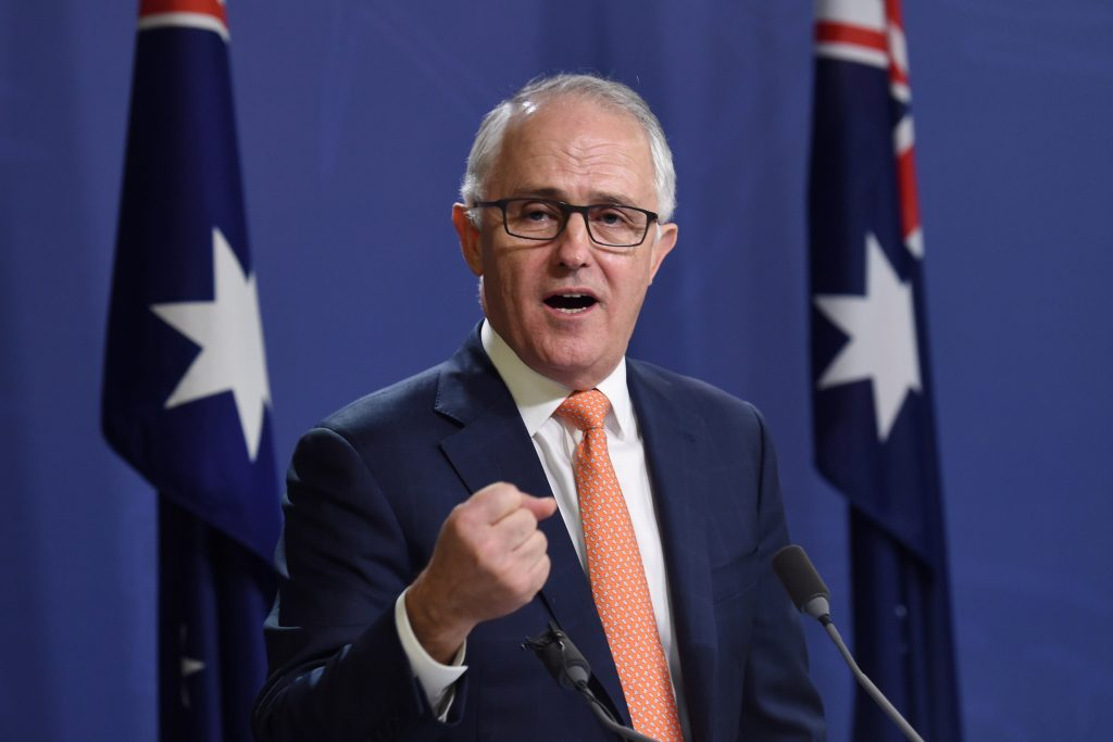Australian Prime Minister Malcolm Turnbull speaks during a news conference in Sydney, Australia, July 10, 2016. AAP/Paul Miller//via REUTERSATTENTION EDITORS - THIS PICTURE WAS PROVIDED BY A THIRD PARTY. EDITORIAL USE ONLY. NO RESALES. NO ARCHIVE. AUSTRALIA OUT. NEW ZEALAND OUT.