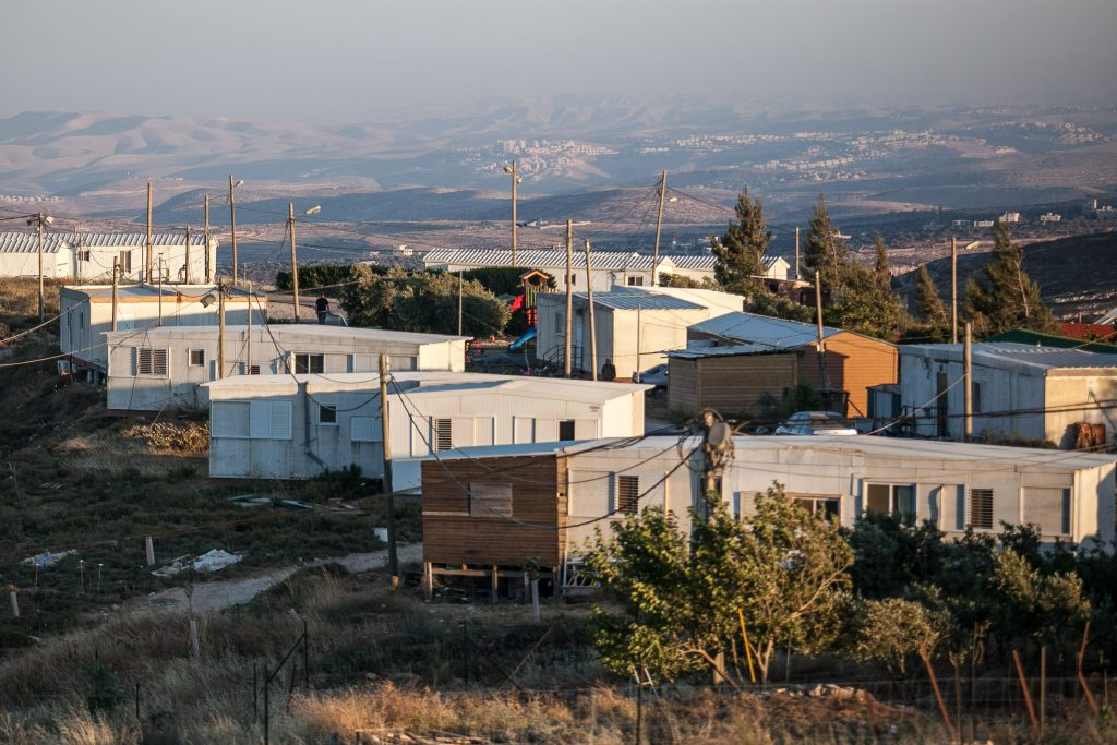 A view of the Jewish outpost community of Amona. (Noam Moskowitz/Flash90)