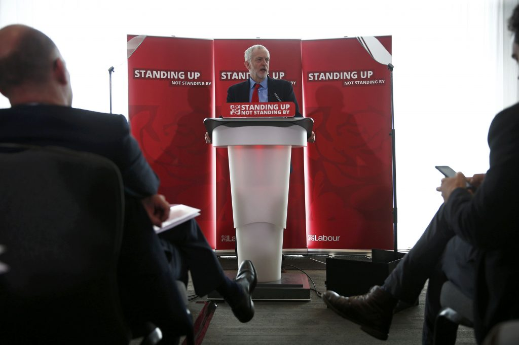 The leader of Britain's opposition Labour party, Jeremy Corbyn, speaks at an event into antisemitism within the Labour party, in London, Britain June 30, 2016. REUTERS/Peter Nicholls
