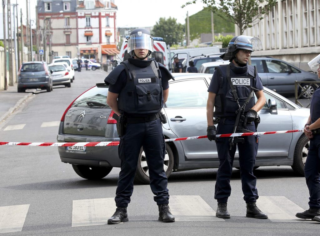 French police secure a street as members of special forces carried out counter-terrorism swoop at different locations in Argenteuil, a suburb in northern Paris, France, July 21, 2016. REUTERS/Charles Platiau