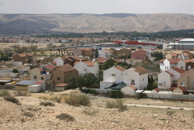 View of the Israeli town of Yeruham. Photo by Liron Almog/FLASH90.
