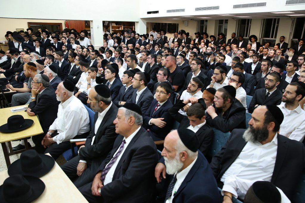 A memorial gathering marking 30 days since the passing of President of the Torah Sages Council, Rabbi Shalom Cohen's wife, in Jerusalem, on July 17, 2016. Photo by Yaakov Cohen/Flash90 *** Local Caption *** ááéú äëðñú äéæãéí áéøåùìéí ðòøëä àîù òöøú äñôã áîìàú 30 éåí ìôèéøú àùú äøá ùìåí ëäï ðùéà îåòöú çëîé äúåøä